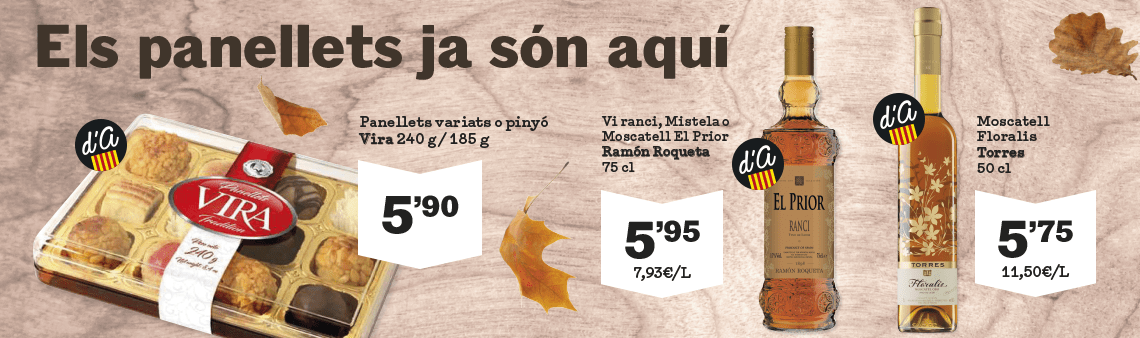 Especial panellets i moscatell